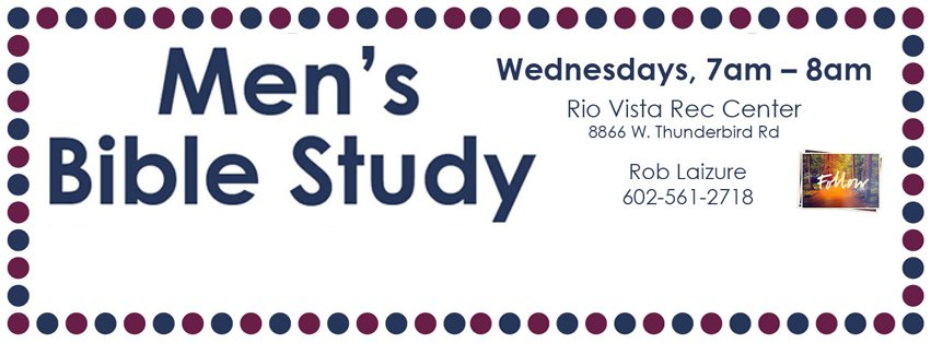 "‪Rob Laizure will be going through Andy Stanley's video series called ""Follow"" every Wednesday morning at 7am-8am at Rio Vista Rec Center‬."