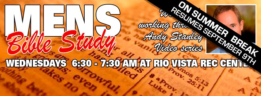 ‪Rob Laizure will be going through Andy Stanley's video series  every Wednesday morning at 6:30am-7:30am at Rio Vista Rec Center‬.
